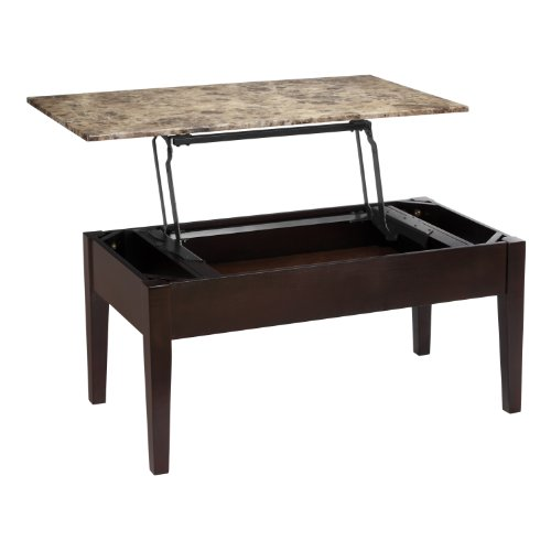 Best Faux Marble Coffee Table: Dorel Living Faux Marble Lift Top Coffee Table Furniture