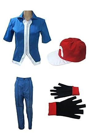 Amazon.com: Miccostume Boy's Pokemon Xy Ash Ketchum Cosplay Costume