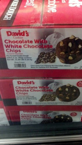 David's Cookies: Chocolate with White Chocolate Chip Cookie Dough 120/1.5 Oz