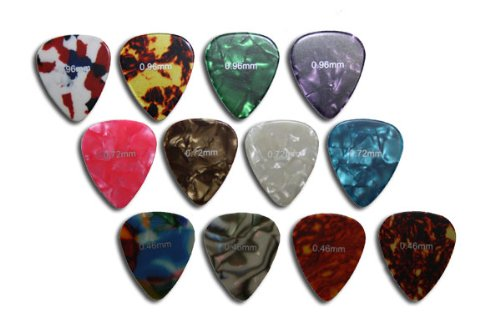 rockpicks 12 pack Guitar Picks Pearloid - Celluloid 0.46 - 0.96