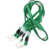 CKB Ltd® Pack of 20 Green PRO Lanyard Neck Strap with Swivel Plastic Clip For an ID Card Holder