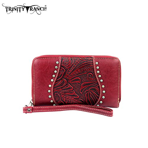 tr23-w003-montana-west-trinity-ranch-tooled-design-wallet-red