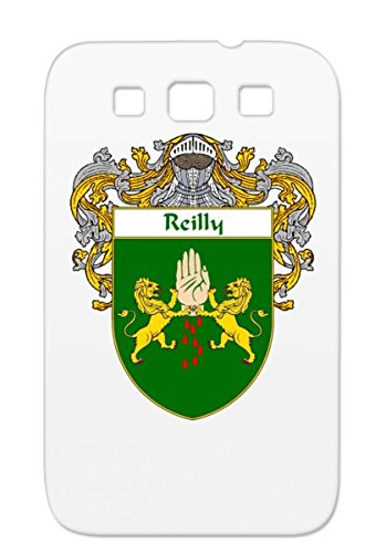 Durable Tpu Cities Countries Ireland Flags Ancestry Name Family Crest Shield Wales Gaelic Irish Last Heritage Celtic Reilly Coat Of Arms England Reilly Surname Scotland Case For Sumsang Galaxy S3 Green Mantled front-535650
