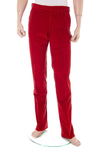 POLO by RALPH LAUREN Cord Trousers / Pants red, Size 33 / 34''R - SG3WH