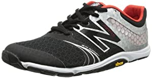 New Balance Men's MX20 Minimus Cross-Training Shoe,Black/Silver,8 2E US