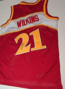Dominique Wilkins Signed *Atlanta HawksJersey *Comes with a Certificate of... by ezgraphs