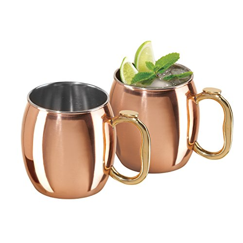 oggi moscow mule copper plated mugs set of 2 20 ounce import it all. Black Bedroom Furniture Sets. Home Design Ideas