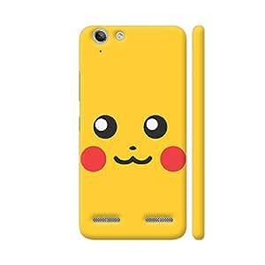 Colorpur Pokemon Go Pikachu On Yellow Designer Mobile Phone Case Back Cover For Lenovo Vibe K5 / Vibe K5 Plus   Artist: Manik Chawla