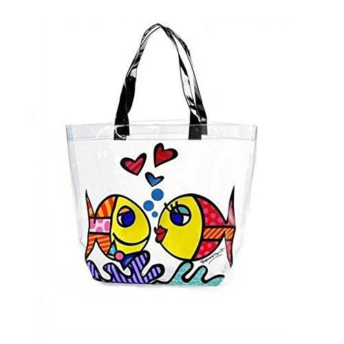 Romero Britto - borsa da spiaggia / per la spesa 'Deeply in love' - Shopping Bag - Pop art da Miami