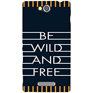 Sony Xperia C Be Wild And Free Matte Finish Phone Cover - Matte Finish Phone Cover