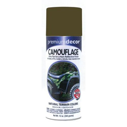 General Paint & Manufacturing PDS-182 Premium Decor Camouflage Enamel Spray Paint with 360-Degree Spray Tip, Military Green (Military Green Spray Paint compare prices)