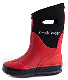 Neoprene Rain Boots, Red 8