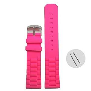 22 mm rosa para mujer correa de muñeca de silicona correas de goma WB1052B22JB de China Mart Industrial Co