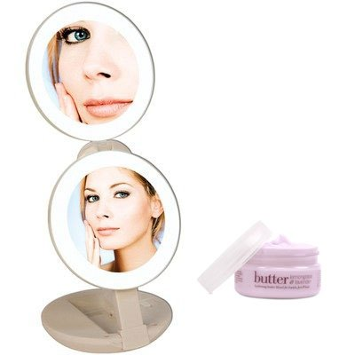 Zadro Ledt01 Led Lighted Travel Makeup Mirror And Cuccio Milk & Honey Body Butter