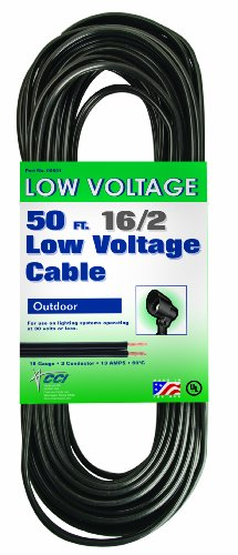 Coleman Cable 095015008 16/2 Low Voltage Lighting Cable, 50-Feet