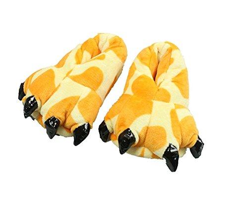 YARBAR Morbido Cosplay mostro pantofole zampa peluche Slipper Coral velluto spesso peluche di cotone