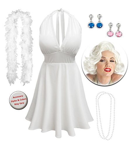 [Marilyn Monroe Plus Size Supersize Halloween Costume Deluxe Wig Kit 5x] (Marilyn Monroe Deluxe Adult Costumes)