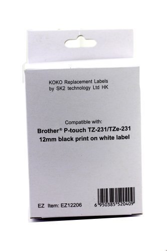 replacement-for-brother-laminated-black-on-white-tape-tze231-2-pack-guaranteed-compatible-except-mod