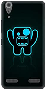 The Racoon Lean Shouting Bug hard plastic printed back case / cover for Lenovo A6000 Plus