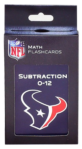 NFL Houston Texans Subtraction Flash Cards
