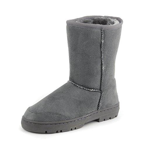 Clpp'li Women's Emma Waterproof Winter Snow Boots -Gray-10