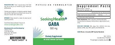 GABA | Gamma Aminobutyric Acid | 60 Vegetarian Capsules | Physician-Formulated | Seeking Health