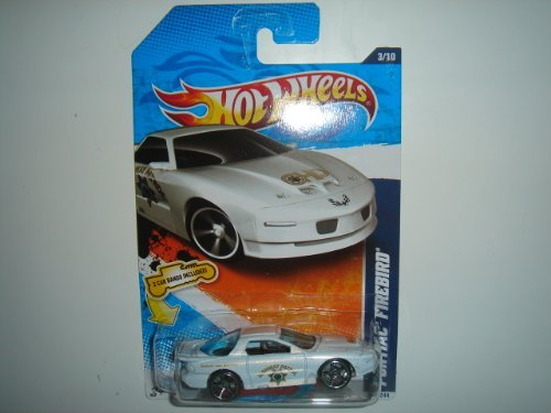 2011 Hot Wheels HW Main Street Pontiac Firebird White on 2 Car Bands Included Card #163/244