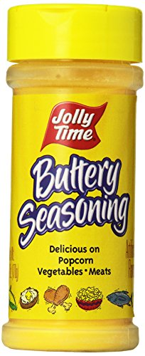 Jolly Time Buttery Popcorn Seasoning - Movie Theatre Popcorn Salt Powder, 6-Ounce Jars (Pack of 12) (Spray Popcorn Butter compare prices)