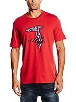 Trussardi Jeans Camiseta Manga Corta Sport Fit Jersey (Rojo)