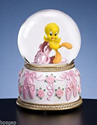 Looney Tunes Tweety Bird Ballet Musical Water Globe - Plays Song Dance Ballerina Dance