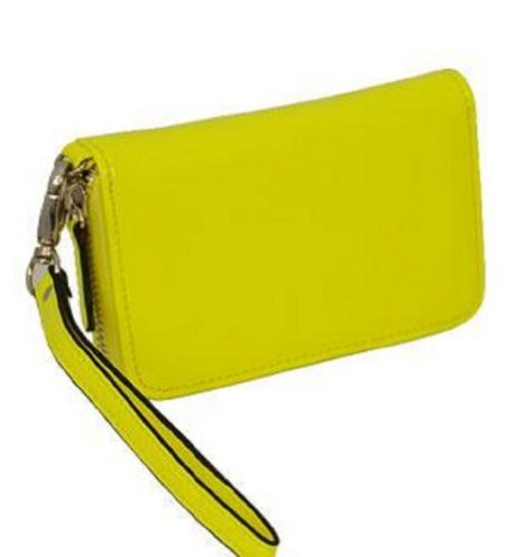 Yellow Patent iPhone Wristlet with Zipper image