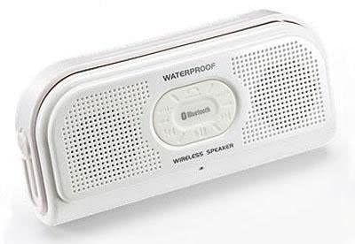 サンワダイレクト 防水Bluetoothスピーカー ワイヤレススピーカー スタンド付き iPhone スマートフォン 対応 ホワイト 400-SP039W