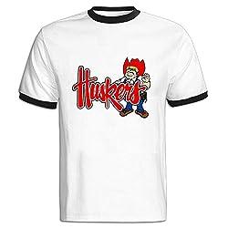 LEE75S Nebraska Huskers Logo Colorblocking Short Sleeve T Shirt For Gentleman