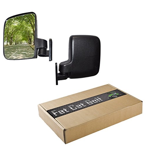 Golf Cart Side Mirrors 1 Pair 2 Mirrors Fits E-Z-GO Club Car Yamaha TXT DS Drive G22 Precedent (Lift Kit Club Car Golf Cart compare prices)