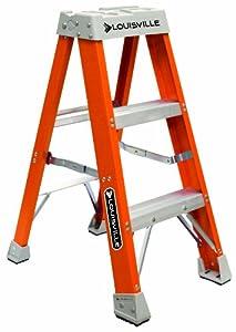 Louisville Ladder Fs1503 300 Pound Duty Rating Fiberglass