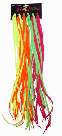 12 Pack of Neon Bright Laces in Pairs
