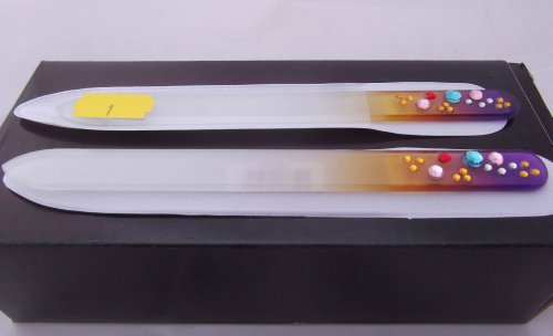 DIAMANTE NAIL FILE Glass Nail File No 1 of 5 Different Colours Being Listed. Choice Of Colour From Razzberry Gifts