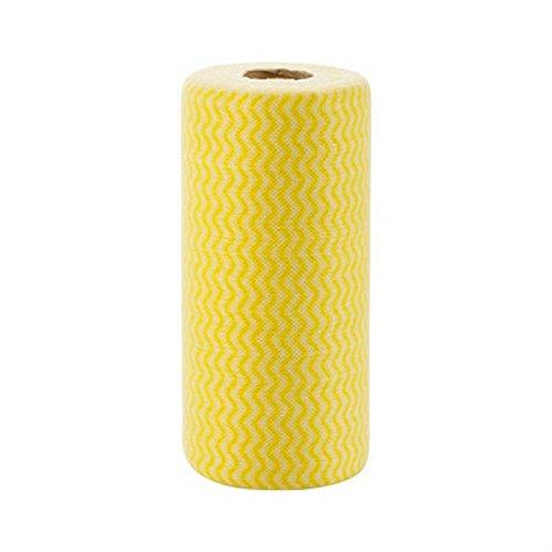 xjoel-rouleau-de-50pcs-non-tisse-chiffon-de-nettoyage-jetable-lingettes-serviette-discloths-jaune