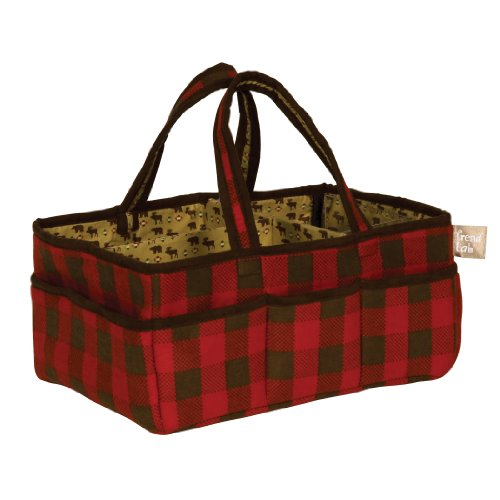 Sale!! Trend Lab Northwoods Storage Caddy, Red/Tan