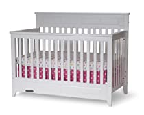 Hot Sale Child Craft Logan Lifetime Convertible Crib, Matte White