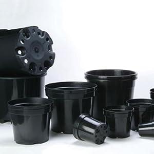 5 Litre Plastic Plant Pots (Black Round) Pack of 25 (a405)