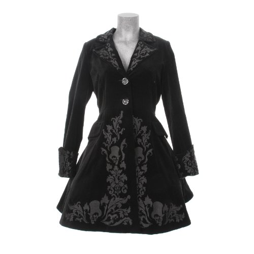 Spin Doctor VICTORIAN COAT black velvet XS