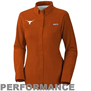 NCAA Texas Longhorns Ladies Collegiate Tamiami II Long Sleeve Shirt by Columbia
