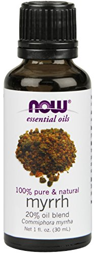 NOW Foods Myrrh 100% pure, 20 % Oil blend, 1 ounce