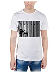 TOMO Men's Cotton White Color Round Neck DEEP FOREST Printed T-shirt