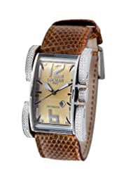 Euro Geneve 14K White Gold Ladies' Diamond Rectangle Watch-Panther Band