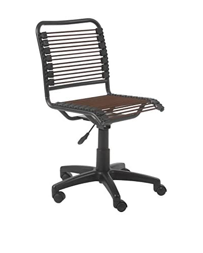 Euro Style Bungie Low Back Office Chair, Brown