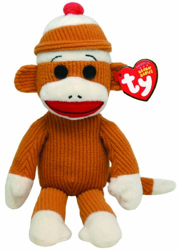 Ty Beanie Babies Socks Monkey (Tan) at 'Sock Monkeys'