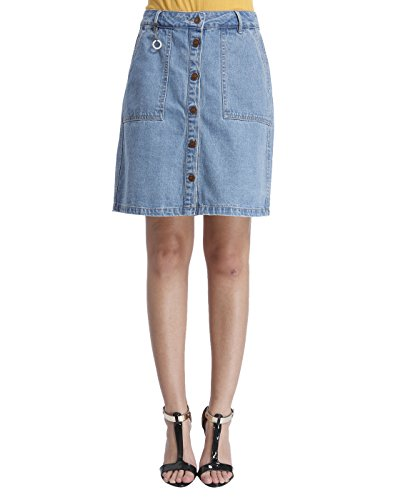 Only Women's Casual Skirt (_5713021752753_Light Blue Denim_34)