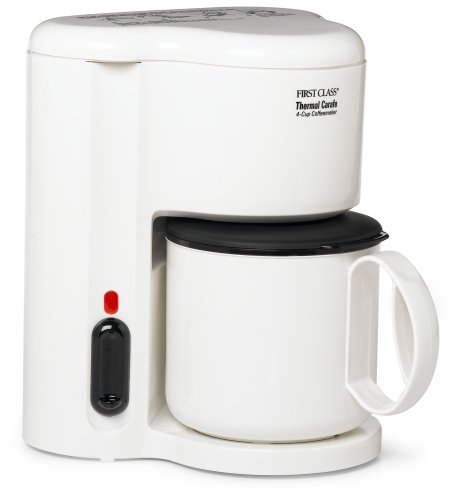 Jerdon Cm21W 4-Cup Automatic Shut-Off Coffee Maker With Non-Breakable Thermal Carafe, White ...